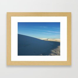 Shadows of White Sands Framed Art Print