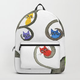 Paraguay Whimsical Cats in Tree Backpack