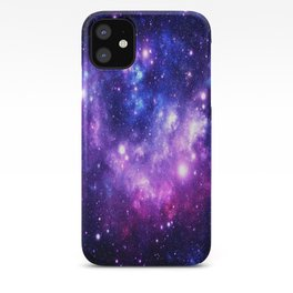 Purple Blue Galaxy Nebula iPhone Case