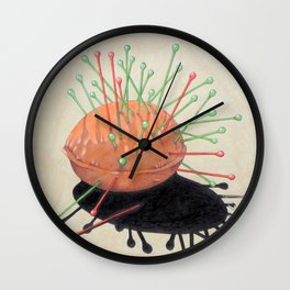 pincushion n. 4 Wall Clock