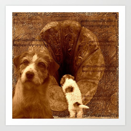 Remembering his masters voice Art Print