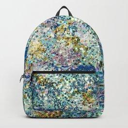 Glittery Ocean Waves Backpack