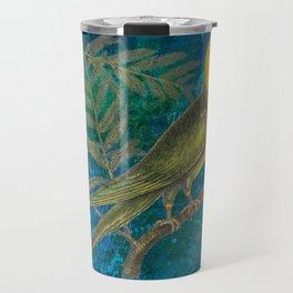 Carolina Parakeet with Cypress, Antique Natural History and Botanical Travel Mug