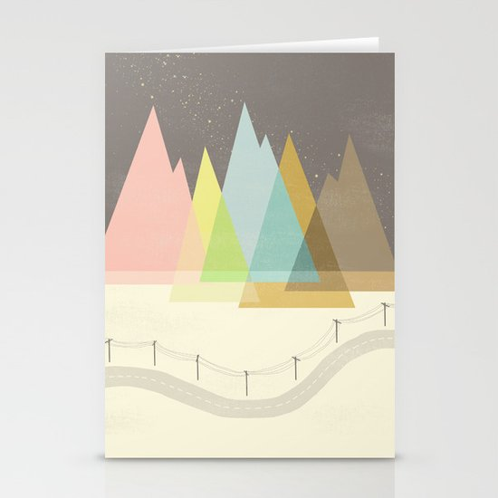 Highway Under Stars Stationery Cards