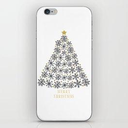 Snowflakes Tree (black gold) iPhone Skin