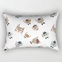 Cat People Pattern Rectangular Pillow