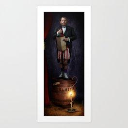 Dynamite Man, Stretching Portrait series by Topher Adam Art Print