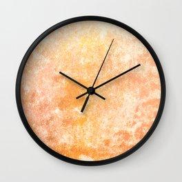 Marbling structur in warm orange tones Wall Clock