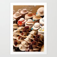 hats Art Prints featuring Hats by Dave Houldershaw