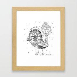 Holiday Bird Framed Art Print