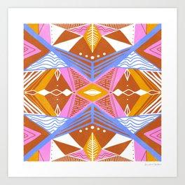 imogene, orange Art Print