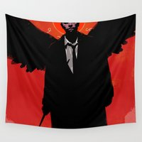 castiel Wall Tapestries featuring Castiel by Duke Dastardly