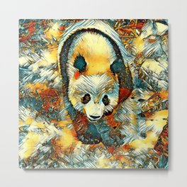 AnimalArt_Panda_20170704_by_JAMColorsSpecial Metal Print