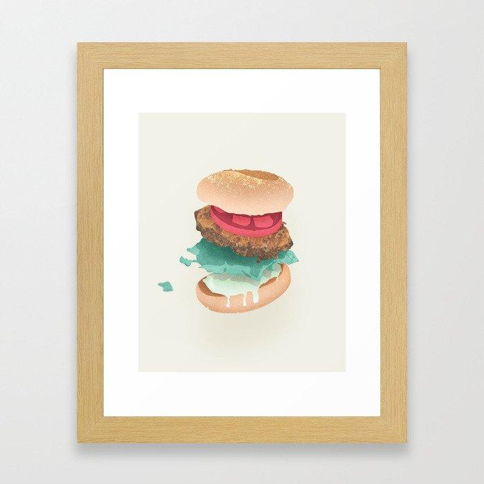 Burger Porn Framed Art Print