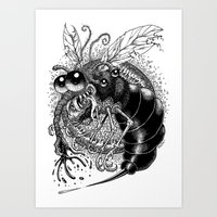 bug Art Prints featuring BUG! by PRESTOONS / Art by Dennis Preston
