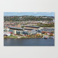 steelers Canvas Prints featuring Heinz Field During a Steelers Game by Dreamcatcher Photography