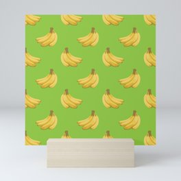 a pattern of bananas Mini Art Print