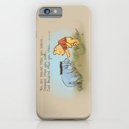 You Are Braver Than You Believe iPhone Case