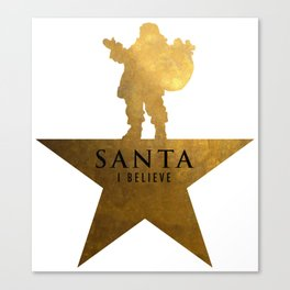 Santa Christmas Star Hamilton Parody Canvas Print