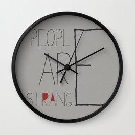 People Are Strange Wall Clock