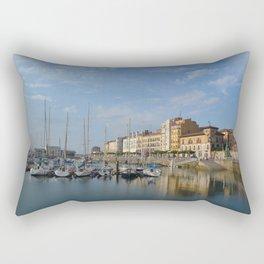 The marina at Gijon, Spain Rectangular Pillow