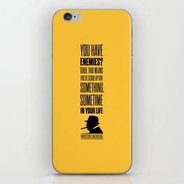Lab No. 4 - Winston Churchill Inspirational Quotes Poster iPhone Skin