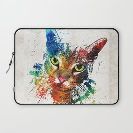 Colorful Cat Art by Sharon Cummings Laptop Sleeve