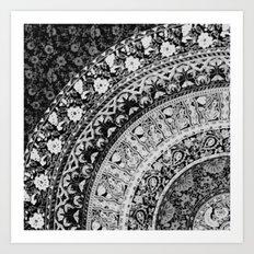 Ditsy Greyscale Art Print