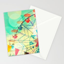 Panoramic carnival ferris wheel Stationery Cards