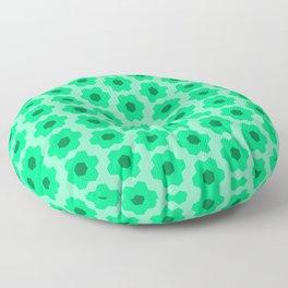 Floral No. 2 -- Seafoam Floor Pillow