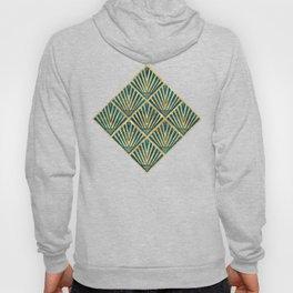 Stylish geometric diamond palm art deco inspired Hoody