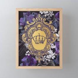 Lalia Dark Floral Crown Framed Mini Art Print