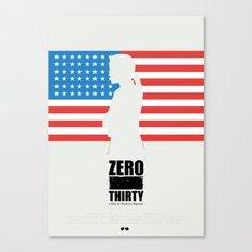Zero Dark Thirty - minimal poster Canvas Print