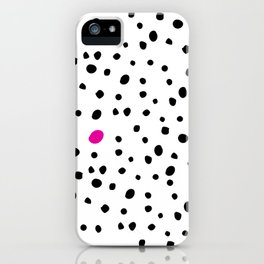 Stand out from the crowd - Dalmatian print iPhone Case