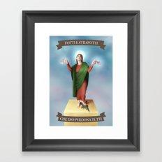 God Forgives Everyone Framed Art Print