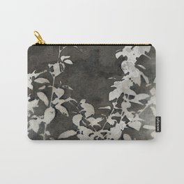 Charcoal Flowers Carry-All Pouch