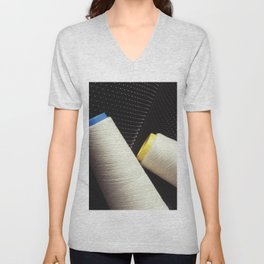 Cotton Yarn Coil  Unisex V-Neck