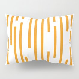 Minimalist Lines – Orange Pillow Sham