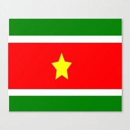 Flag of Suriname Canvas Print