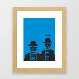 The Blues Brothers minimalist poster Framed Art Print