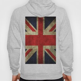 GRUNGY BRITISH UNION JACK  DESIGN ART Hoody