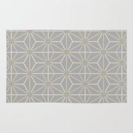 Mindful gray Japanese Asanoha (Hemp) pattern Rug