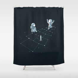 Hopscotch Astronauts Shower Curtain