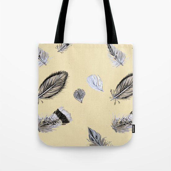 Creamy feathers Tote Bag