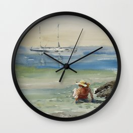 August on Cyprus Wall Clock