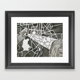 Point A to Point B Framed Art Print