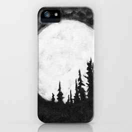 Full Moon & Trees iPhone Case