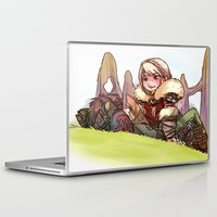 hiccup Laptop & iPad Skins featuring Hiccup and Astrid by Kiome-Yasha