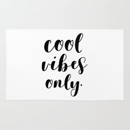 Cool Vibes Only Rug