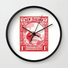 1936 NEW ZEALAND Kiwi Postage Stamp Wall Clock